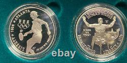 1996/95 US. Olympic Coins of the Atlanta Centennial Games 8 coin Proof Set WithCOA