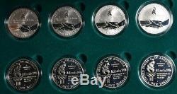 1996 Atlanta Olympic 8 Coin Silver Commemorative Proof Set With Case & COA