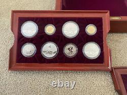 1996 Atlanta Olympics 16 Proof Gold & Silver Coin Set with Original Box & COA