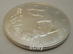 1996-D Atlanta Olympic High Jump Commemorative Silver Dollar Uncirculated Coin