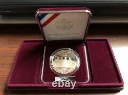 1996 P US Mint ROWING Atlanta Olympic Coin SILVER Dollar Proof Rowing & COA