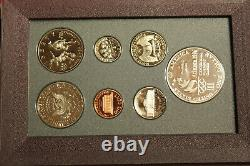 1996 Prestige 7-Coin US Olympic Dollar Mint Proof Set withBox