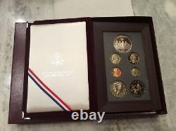 1996 Prestige US Mint 7 Coin Proof Set, Atlanta Olympics Silver Dollar NO COA