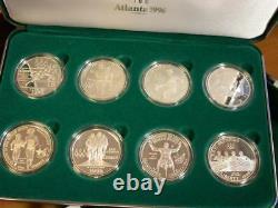 1996 U. S. Olympic $1 Silver Dollar Coins of the Atlanta Centennial Games 8 coins