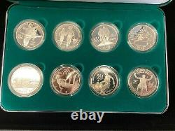 1996 U. S. Olympic Coins of the Atlanta Centennial Games 8 coin Proof Set With COA