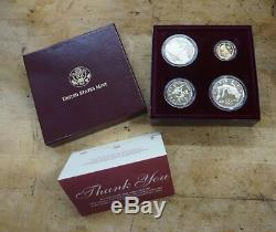 1996 atlanta centennial olympic games 4 coin set united states mint gold /silver