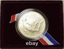 1996-d Silver $1 Atlanta Olympic Coin, High Jump Fresh Bu In Ogp