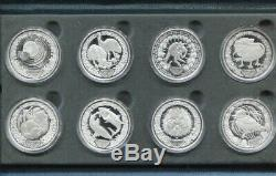 2000 $5 Five Dollar X 8 SILVER PROOF Coin Set SYDNEY OLYMPICS Flora Fauna series