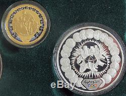 2000 Australia Olympic coin set $5 $100 dollars 9999 gold silver 1/3 Oz Sydney