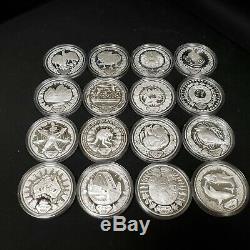2000 Australia Sydney Olympic Silver Collection 16 Coins Animals Landmarks, etc