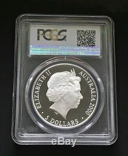 2000-C $5 Dollar Olympic 1oz. 999% Silver Proof Kookaburra Coin PCGS PR70DCAM