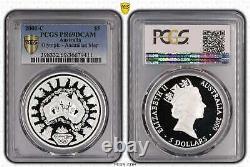2000-C Sydney Olympics Australian Map Sea Change $5 Silver Coin PCGS PR69DCAM