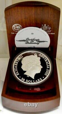 2000 Sydney, Australia Olympic $30 Silver Kilo Coin Proof with Box 922030-1