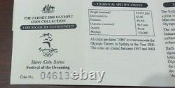 2000 Sydney Olympic Silver Proof 16 Coin Collection From RAM. 999 AG Boxed&COA