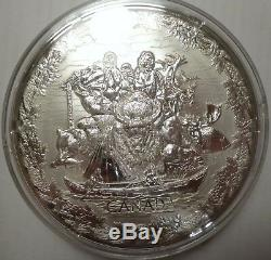 2007 2010 Canada 250 Vancouver Olympics Games kilo Silver Coin BOX COA