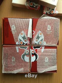 2008 Beijing Olympics Silver Proof Coin Set 4 X 1oz. 999 Pure Silver Coloured