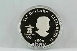 2008 Canada $250 Kilo Fine Silver Coin Vancouver Olympics Towards Confederation