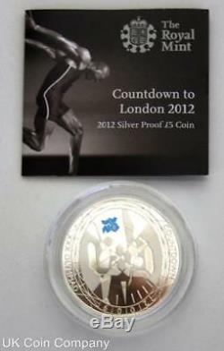 2009 2012 Countdown To London Olympics Silver Proof £5 Royal Mint 4 Coin Set