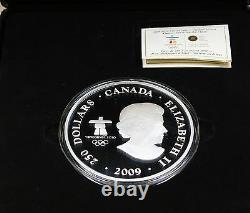 2009 Canada $250 Silver Coin- Olympic Winter GamesSurviving the Flood-Box & COA