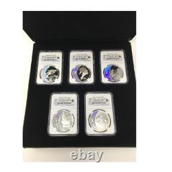 2009 Canada Hologram Coins Silver $25 NGC PR-69 Set Olympic Royal Mint