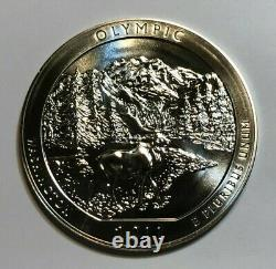 2011 5 oz. 999 Fine Silver ATB Olympic National Park, WA Coin, in Capsule