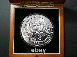 2011 5 oz Silver ATB Olympic National Park Coin Gem Brilliant. 999 Fine Silver