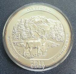 2011 ATB America The Beautiful Olympic Washington 5oz. 999 Silver- Item# 3536