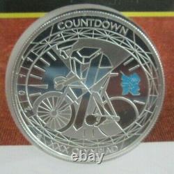 2011 London Olympics SILVER PROOF COMMEMORATIVE UK Royal Mint £5 COIN, PNC COA