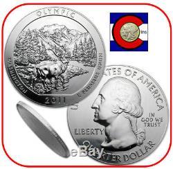 2011 Olympic (WA) 5 oz Silver America the Beautiful ATB Coin in capsule