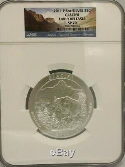 2011 P 5 Coin Set Vicksburg Olympic Chickasaw Gettysburg Glacier 5 Oz Ngc Sp70