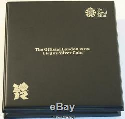 2012 £10 Olympic Pegasus Silver 5 oz Coin Issued By Royal Mint