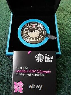 2012 Royal Mint UK Silver Proof Piedfort London Olympics £5 coin