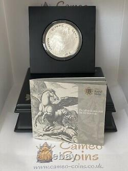 2012 Silver Proof Pegasus £10 London Olympic Ten Pound 5oz Coin 5 Ounce