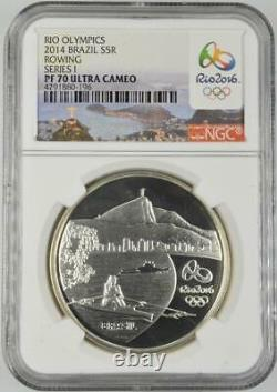 2014 Brazil 2016 Olympic Gold & Silver (5) Coin Set NGC PF70 Ultra Cameo