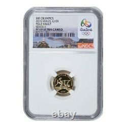 2015 Rio Brazil Olympic 5 Coin Gold and Silver Proof Coin Set NGC PF70