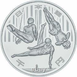 2020 Olympic Tokyo 1000 Yen Silver Gymnastics Proof Coin Limited Made in Japan