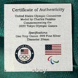 2020 Tokyo Olympics 1 Oz Silver Only 1000 Fazzino Design Loa & Coa
