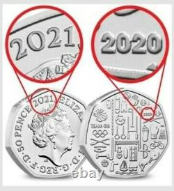 2021 Team GB 50p Silver Piedfort Coin Ltd Edt 1500 Soldout 2020 Olympics In Hand