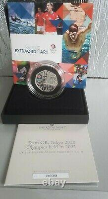 2021 Tokyo 2020 Olympics Games Silver Proof Piedfort 50p Coin NEW! SOLD OUT