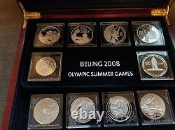 30 silver coins Beijing 2008 Olympic games