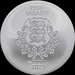 8 XXXII Summer Olympic Games in Tokyo, Silver Coin (Estonia, NEW)
