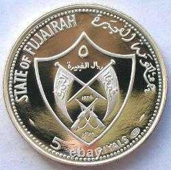 Al Fujairah 1969 Olympics 5 Riyals Silver Coin, Proof