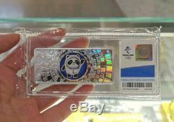 Beijing 2022 Winter Olympic Official Mascot 50g 999 Sterling Silver Bar Coin