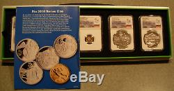 Brazil 2014 Gold/Silver 5 Coin Proof Set NGC PF70UC Rio 2016 Olympics Series 1