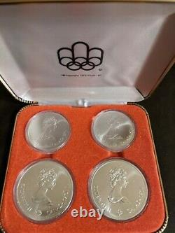 CANADA 1976 MONTREAL OLYMPICS 4-COIN SET SERIES III 4.32 tr oz 92.5% SILVER