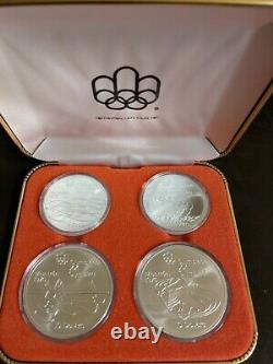 CANADA 1976 MONTREAL OLYMPICS 4-COIN SET SERIES V 4.32 tr oz 92.5% SILVER