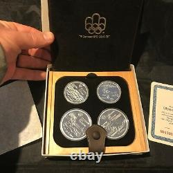 CANADA 1976 Montreal Olympics XXI 4 Coin Silver Proof Set 5 Water Sports #s91