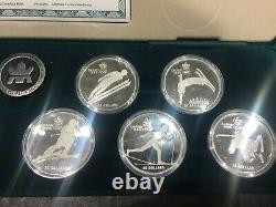 Calgary olympic 10 coin set silver 1988 20$ Canada