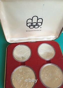 Canada 1976 Montreal Olympic 4-Coin Set 925 Silver Series1 with case