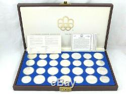 Canada 1976 Montreal Olympics 28 pcs Sterling Silver Coin Set 1020 g 29.68 Oz TR